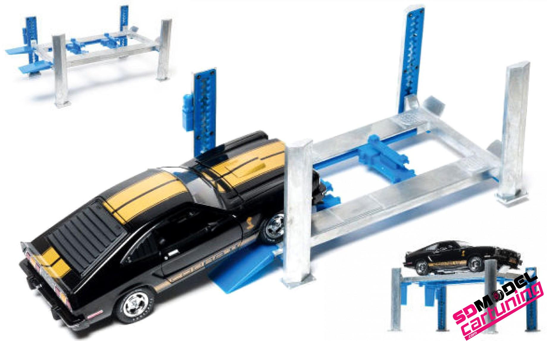 1:18 4post autolift (beweegbaar)
