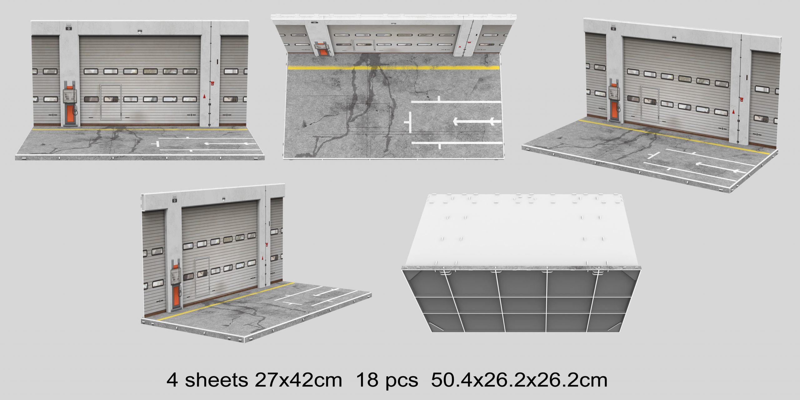1:18 Pitbox diorama - Foto achtergrond