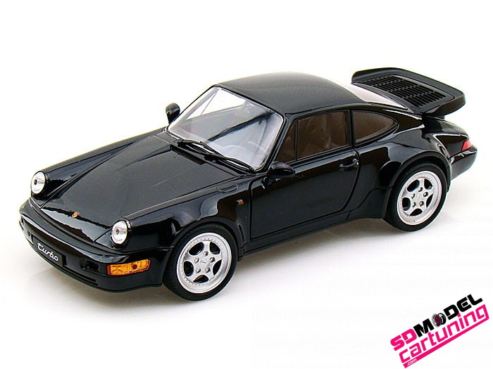 1:18 Porsche 964 Turbo zwart