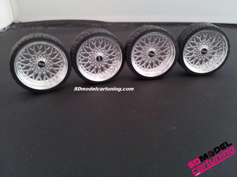 1:18 BBS RS Velgenset 19 inch