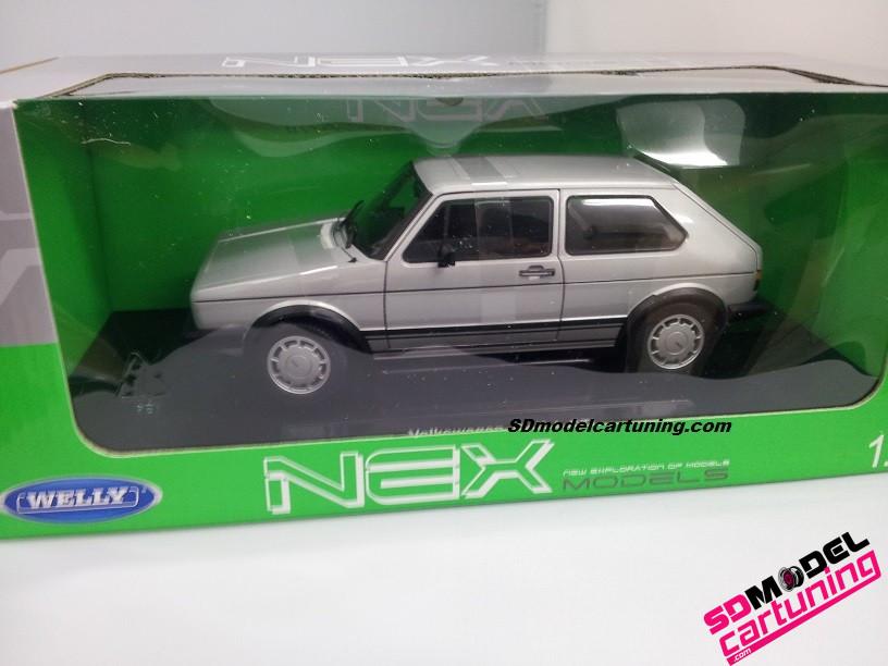 1:18 Volkswagen golf mk1 gti zilver (pirelli)