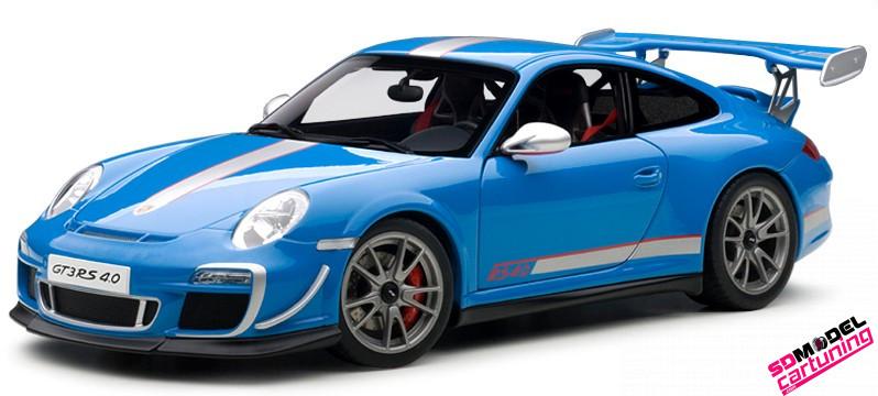 1:18 Porsche 911 GT3 RS Blauw