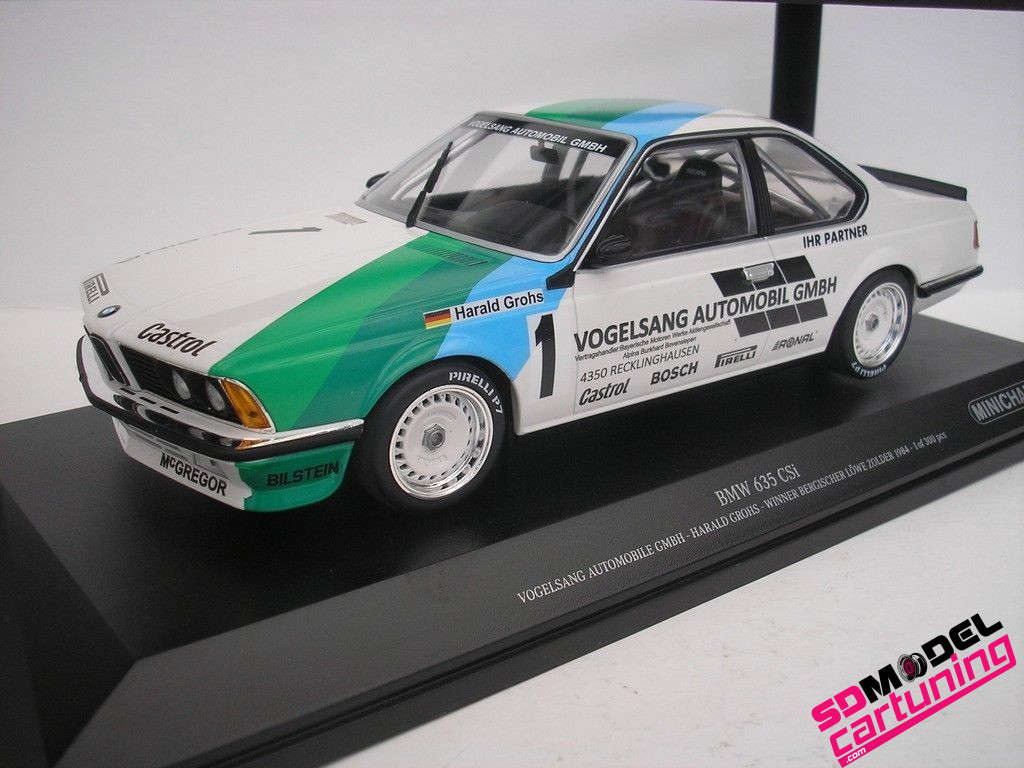 1:18 BMW 635CSI H. Grohs winner Zolder 1984