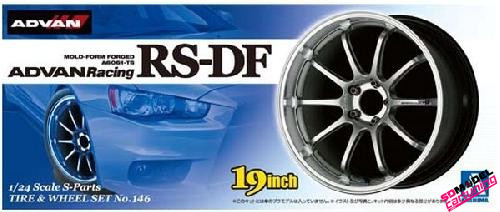 1:24 Advan Racing RS-DF wheelset 19inch