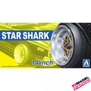 1:24 Oldskool Star Shark velgenset 14inch