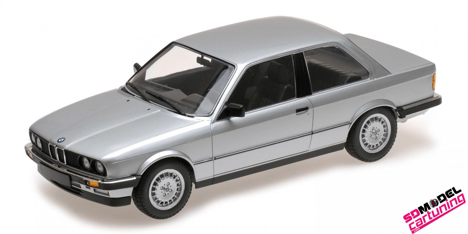 1:18 BMW E30 323I 1982 Zilvergrijs