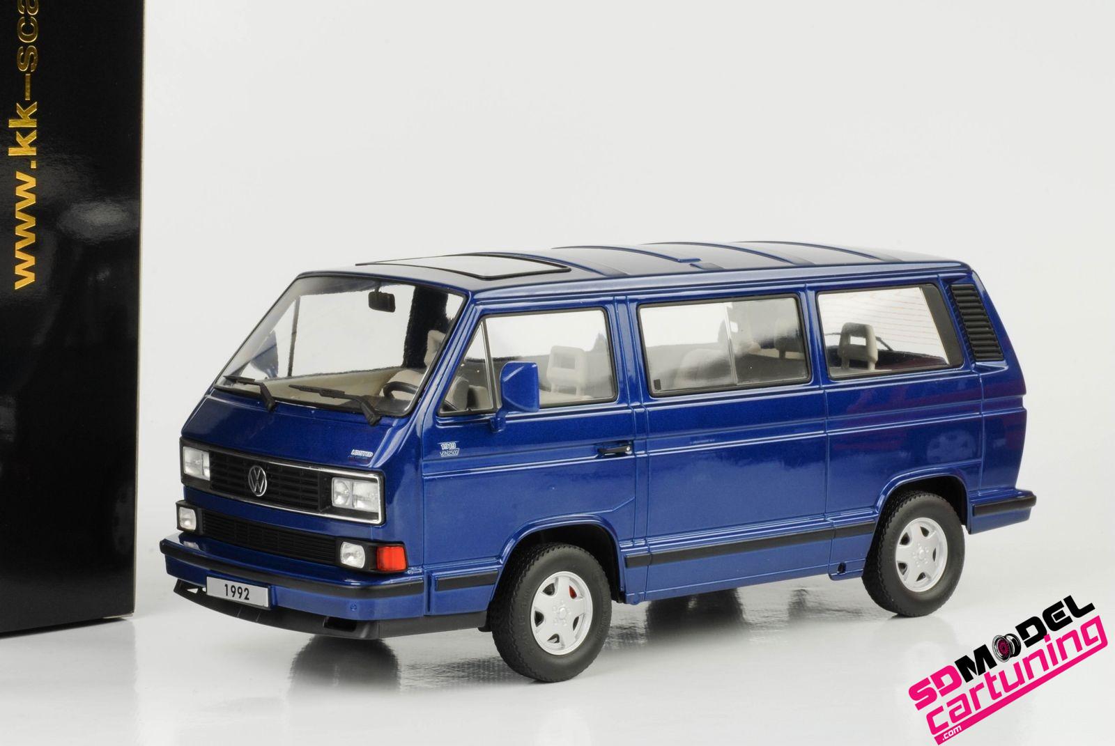 1:18 Volkswagen T3 Multivan Blauw