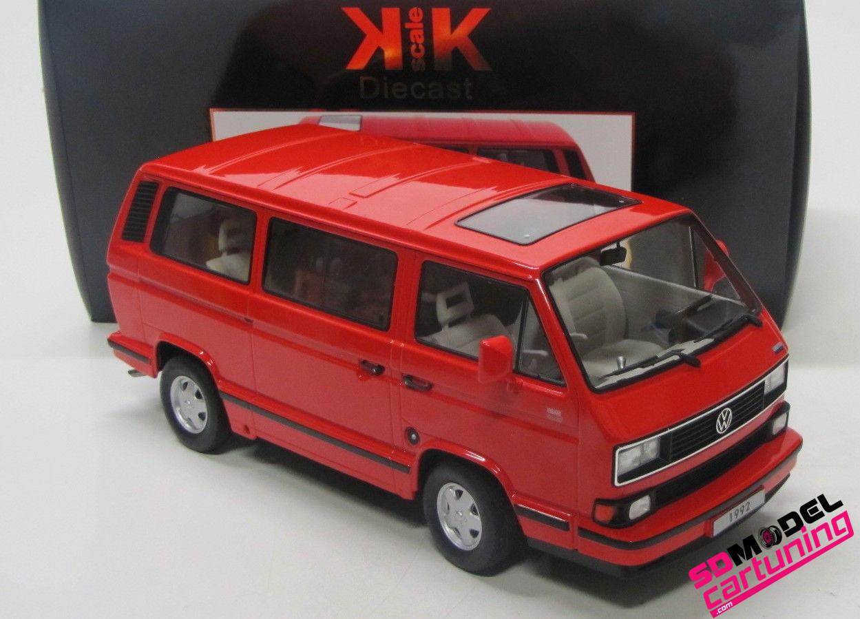 1:18 Volkswagen T3 Multivan Rood