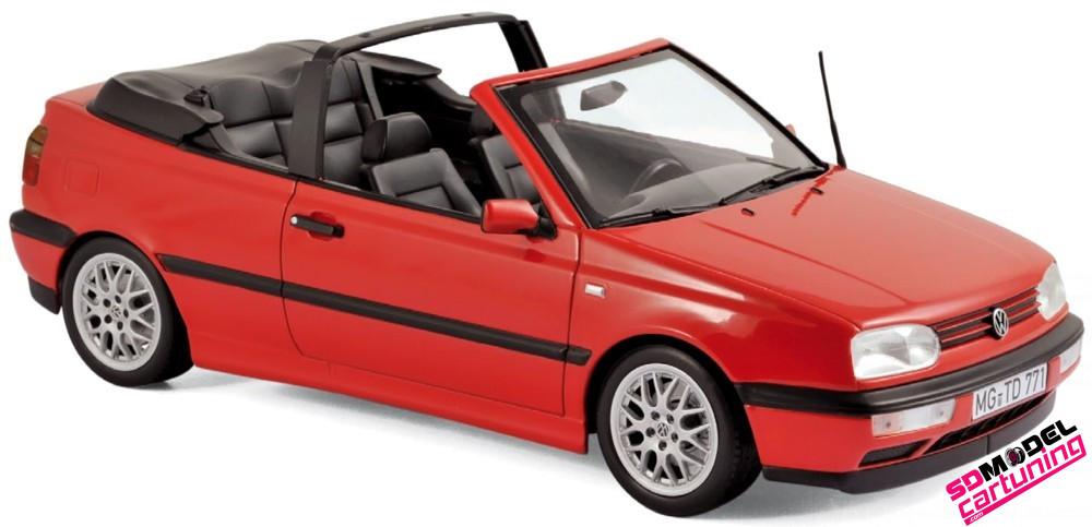 1:18 Volkswagen golf cabriolet 1995 rood