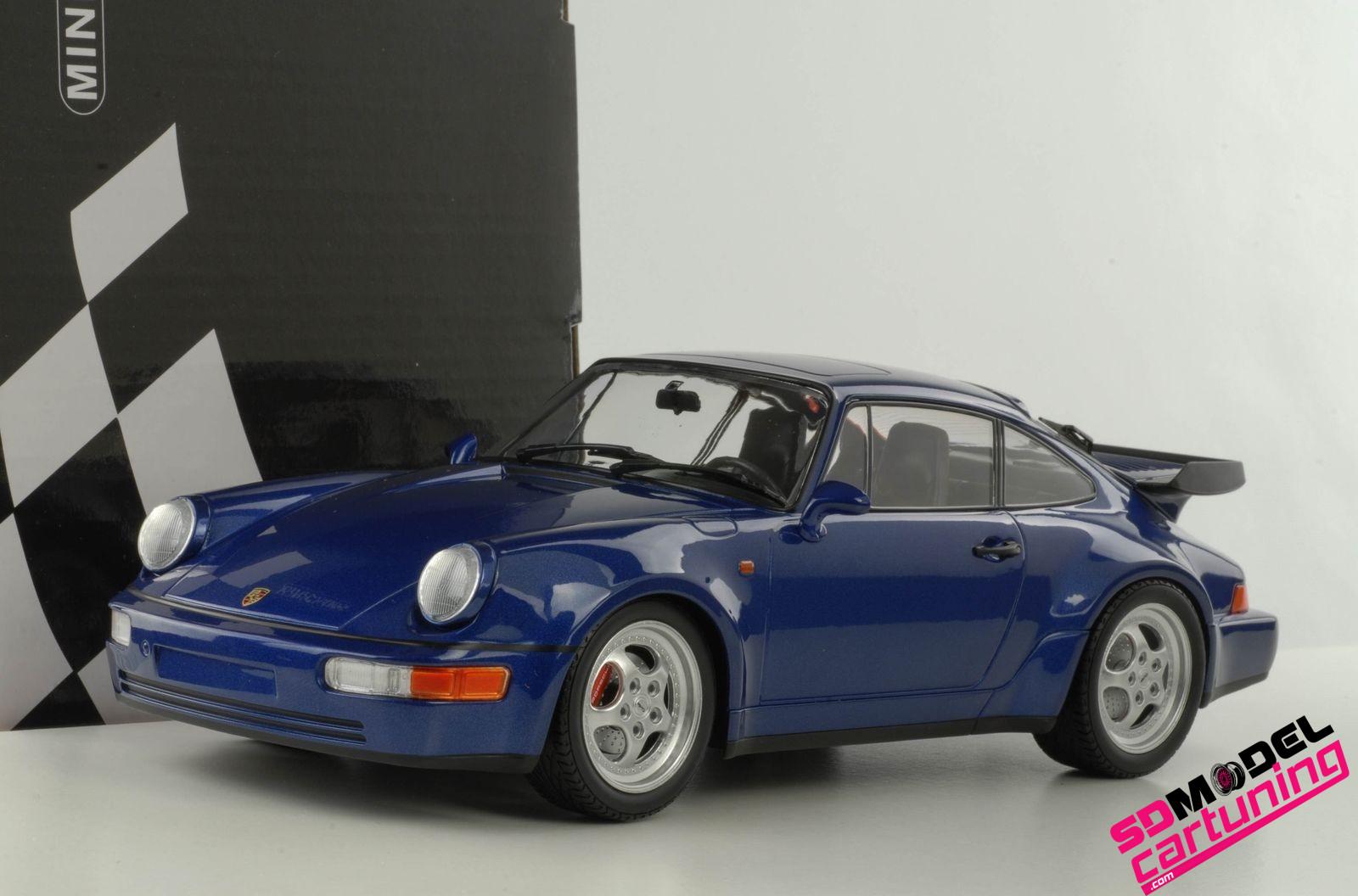 1:18 Porsche 911 (964) Turbo 1990 blauw