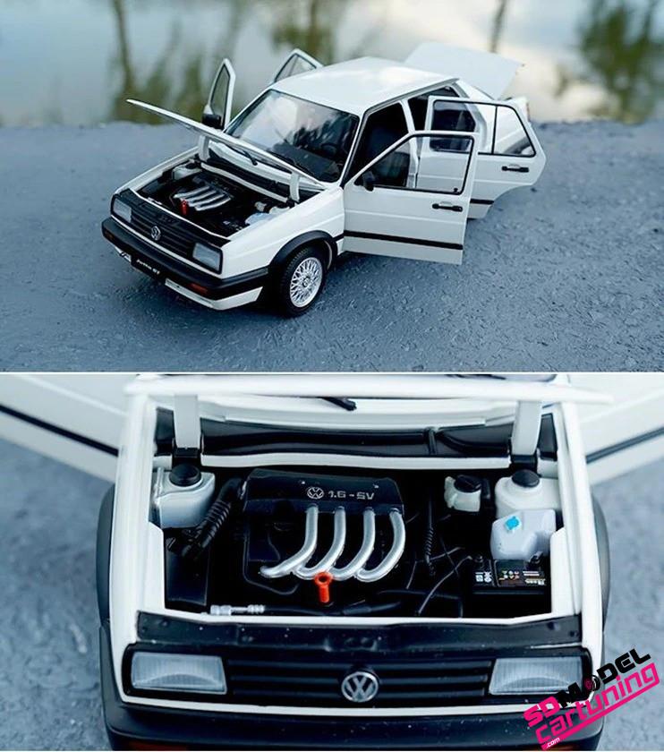 1:18 Volkswagen Jetta MK2 GT Wit