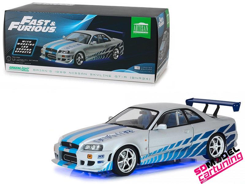 1:18 1999 Nissan Skyline R34 GT-R Brian´s car 2fast 2furious