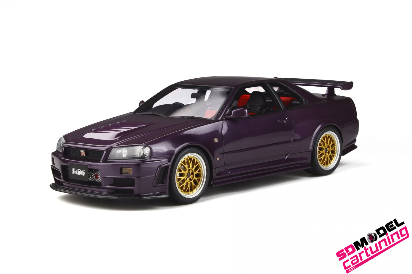 1:18 Nissan GT-R R34 Nismo Midhnight purple / gold